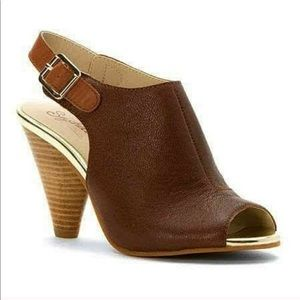Seychelles Callin My Bluff Leather Peep Toe Sandal